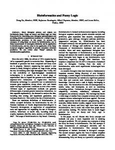 Bioinformatics and Fuzzy Logic