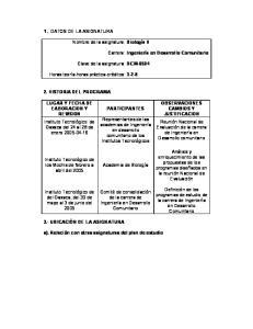 Biología II. Carrera: DCM PARTICIPANTES