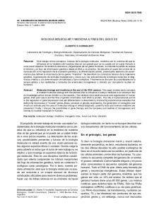 BIOLOGIA MOLECULAR Y MEDICINA A FINES DEL SIGLO XX