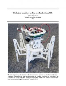 Biological machines and the mechanization of life