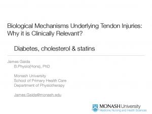 Biological Mechanisms Underlying Tendon Injuries: Why it is Clinically Relevant?