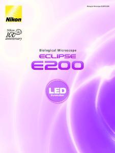 Biological Microscope. Biological Microscope ECLIPSE E200