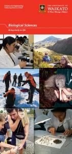 Biological Sciences. Bring study to life