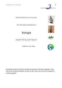 Biologie. Haltern am See