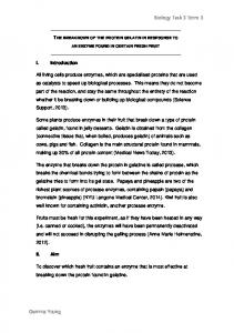 Biology Task 3 Term 3