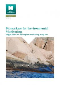 Biomarkers for Environmental Monitoring