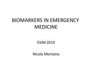 BIOMARKERS IN EMERGENCY MEDICINE