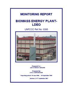 BIOMASS ENERGY PLANT- LDEO