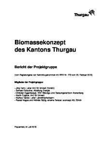 Biomassekonzept des Kantons Thurgau
