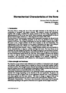 Biomechanical Characteristics of the Bone