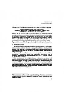 BIOMETRIC CRYPTOGRAPHY AND NETWORK AUTHENTICATION