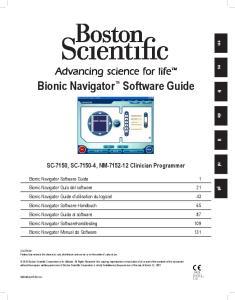 Bionic Navigator Software Guide