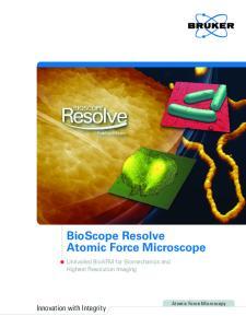 BioScope Resolve Atomic Force Microscope