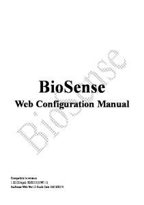 BioSense. Web Configuration Manual