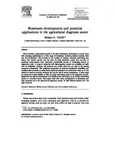 Biosensors developments and potential applications in the agricultural diagnosis sector