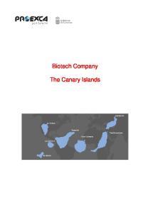 Biotech Company. The Canary Islands