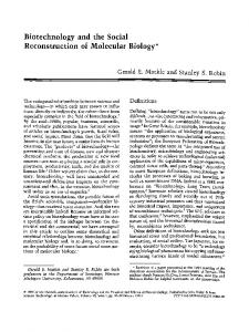 Biotechnology and the Social Reconstruction of Molecular Biology*