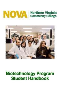 Biotechnology Program Student Handbook