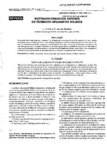 BIOTRANSFORMACION AEROBIA DE RESIDUOS ORGANICOS SOLIDOS