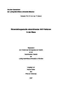 Bioverteilungsstudie rekombinanter AAV-Vektoren in der Maus