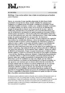 Birling: Una nota sobre las crisis económicas actuales Jaime Requeijo