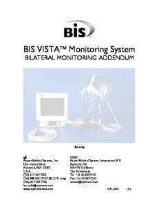 BIS VISTA Monitoring System BILATERAL MONITORING ADDENDUM