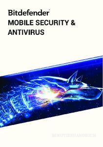Bitdefender Mobile Security & Antivirus Benutzerhandbuch