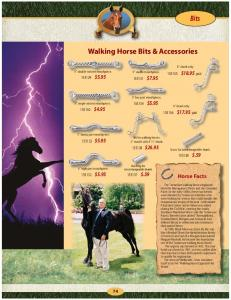 Bits. Walking Horse Bits & Accessories. Horse Facts $18.95 pair $ $ $ $ $17