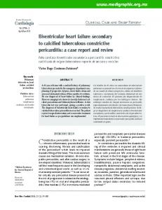 Biventricular heart failure secondary to calcified tuberculous constrictive pericarditis: a case report and review