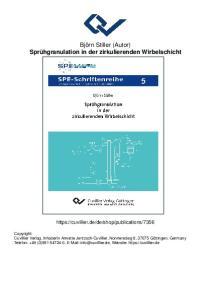 Björn Stiller (Autor) Sprühgranulation in der zirkulierenden Wirbelschicht