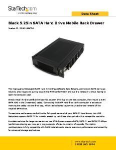 Black 5.25in SATA Hard Drive Mobile Rack Drawer