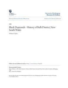 Black Diamonds - History of Bulli District, New South Wales