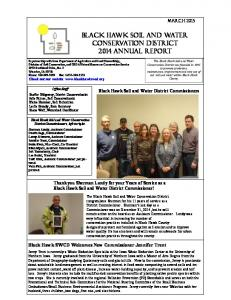 Black Hawk Soil and Water Conservation District 2014 annual report