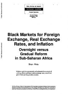 Black Markets for Foreign Exchange, Real Exchange Rates, and Inflation