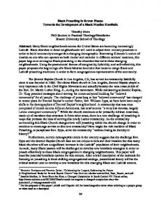 Black Preaching in Brown Places: Towards the Development of a Black Mestizo Homiletic