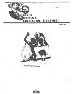 Black Women s Collective (Toronto) March Constitution