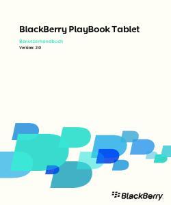 BlackBerry PlayBook Tablet Benutzerhandbuch