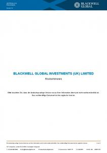 BLACKWELL GLOBAL INVESTMENTS (UK) LIMITED