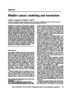 Bladder cancer: modeling and translation
