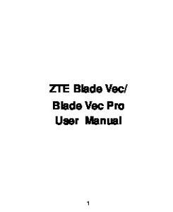 Blade Vec Pro User Manual