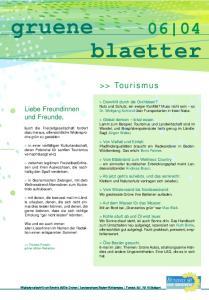 blaetter >> Tourismus Liebe Freundinnen und Freunde,