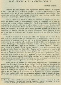 BLAS PASCAL y SU ANTROPOLOGIA,(l)