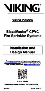 BlazeMaster CPVC Fire Sprinkler Systems