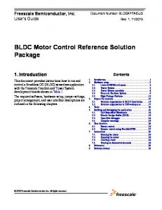 BLDC Motor Control Reference Solution Package