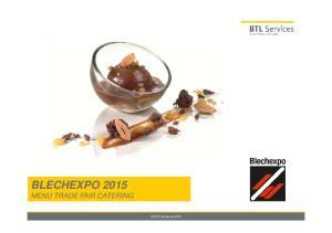 BLECHEXPO 2015 MENU TRADE FAIR CATERING