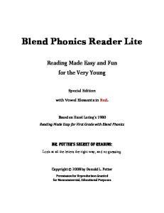 Blend Phonics Reader Lite