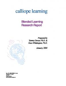 Blended Learning Research Report
