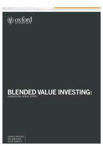 BLENDED VALUE INVESTING: