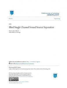 Blind Single Channel Sound Source Separation