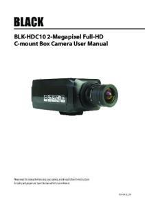 BLK-HDC10 2-Megapixel Full-HD C-mount Box Camera User Manual